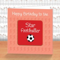 Red Football Coaster Card