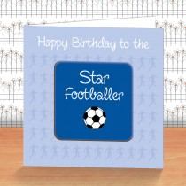 Blue Football Coaster Card