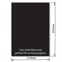 Extra Thick Black Card