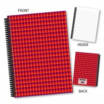 Red Tartan Notebook