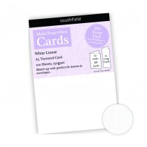 White Linear Card - 100 Sheets
