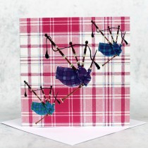 Tartan Pipes Greeting Card