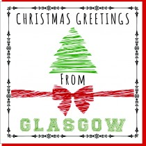 Personalise-Bow & Tree Xmas Card