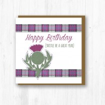 Textured Thistle Card
