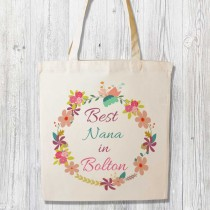 Best Relation Printed White Shopper (Pink)+Tag