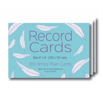 Plain White Record Cards 5x3