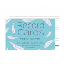 Ruled White Record Cards 5x3