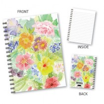 Floral Watercolour Wiro Notebo