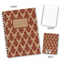 MaroonPatterned Wiro Notebook