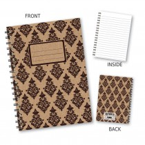 Black Patterned Wiro Notebook