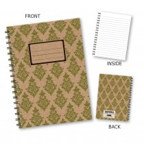 Green Patterned Wiro Notebook