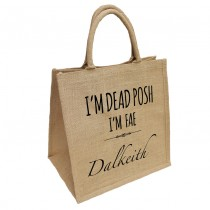 Dead Posh Natural Jute Shopper+Tag