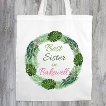 Best Relation Printed White Shopper (Green)+Tag