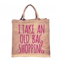Old Bag Natural Jute Shopper (Pink)
