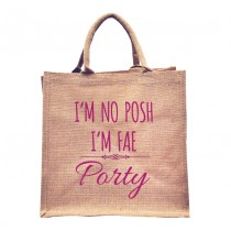 I'm No Posh Natural Jute +Tag (Pink)