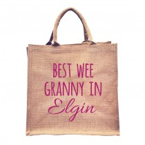 Best Wee Granny Natural Jute +Tag (pink)