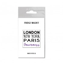 London NY Bagged Fridge Magnet
