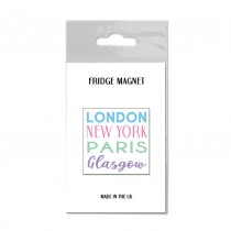 London NY Bagged Pastel Fridge Magnet