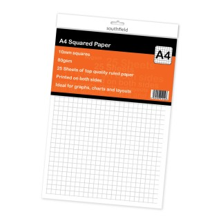10mm Squared Paper 25 Sht product image
