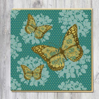 Greeting Card-Gold Butterfly product image