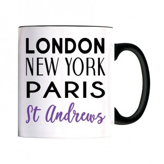 London NY Black Handle Mug product image