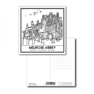 B/W Vintage Sketch Town Postcard product image