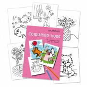 Girl Colouring in Book
