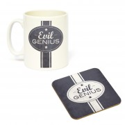 Mug/Coaster Set Evil Genius