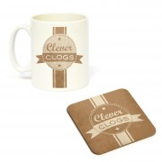 Mug/Coaster Set Clever Clogs