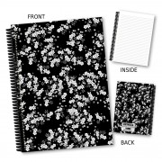 Black/White Floral Book