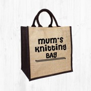 Mum's Knitting Jute Bag