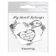 Heart Belongs Keyring in Bag