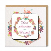 Best Relation Coaster Greeting Card Pink