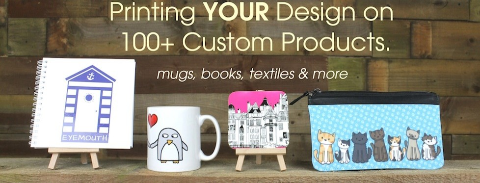 View our Printing your design on custom products
