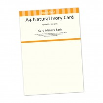 Natural Ivory Card 15 Sheets