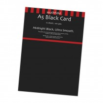Smooth Black Card 10 Sheets