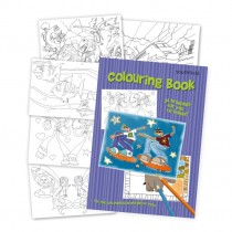 Skater Colouring in Book