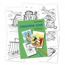 Boy Colouring in Book