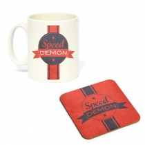 Mug/Coaster Set Speed Demon