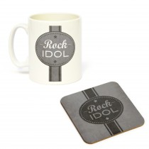 Mug/Coaster Set Rock Idol
