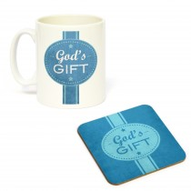 Mug/Coaster Set Gods Gift