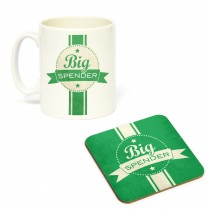 Mug/Coaster Set Big Spender