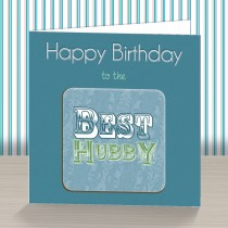 Best Hubby Coaster Card