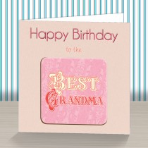 Best Grandma Coaster Card