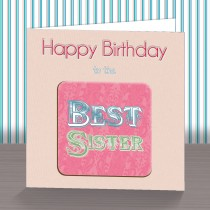 Best Sister Coaster Card
