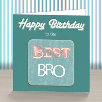 Best Bro Coaster Card