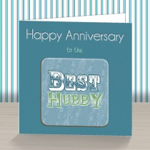 Hubby Anniversary Coaster Card