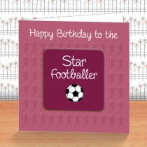 Claret Football Coaster Card
