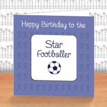 White Football Coaster Card