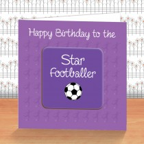 Purple Football Coaster Card